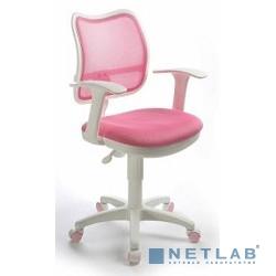 Бюрократ CH-W797/PK/TW-13A кресло (спинка сетка розовый сиденье розовый TW-13A колеса белый/розовый)