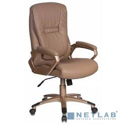 Бюрократ CH-875C/Mocca кресло руководителя (мокко искусственная кожа (пластик медь))