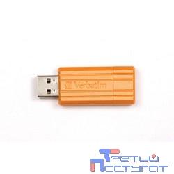 Verbatim USB Drive 8Gb Pin Stripe Volcanic Orange 47389 {USB2.0}