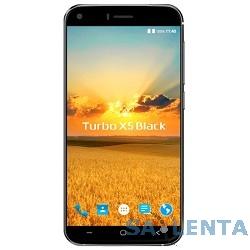 Turbo X5 Black {5″,IPS1280x720,8 МП+2 МП,1 Гб,8 Гб,3G, Wi-Fi, Bluetooth, GPS, ГЛОНАСС,Android 6.0,силиконовый чехол, наушники}
