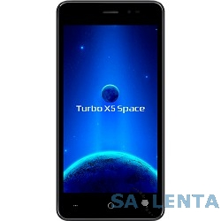 Turbo X5 Space {5″,854×480,5 МП+0.4 МП,1 Гб,8 Гб,3G, Wi-Fi, Bluetooth, GPS, ГЛОНАСС,Android 6.0,силиконовый чехол, наушники}
