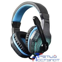 Oklick HS-L400G черно-синие{1.8m мониторы оголовье (NO-3000 LED)} [359480]