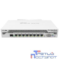 MikroTik CCR1009-7G-1C-PC with Tilera Tile-Gx9 CPU (9-cores, 1Ghz per core), 1GB RAM, 7xGbit LAN, 1x Combo port (1xGbit LAN or SFP), RouterOS L6, passive cooling desktop enclosure, rackmount ears, PSU