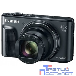 "Canon PowerShot SX720HS черный {21.1Mpix Zoom40x 3"" 1080p SDXC/SD/SDHC CMOS 1x2.3 IS opt 1minF 6fr/s 60fr/s HDMI/WiFi/NB-13L}"
