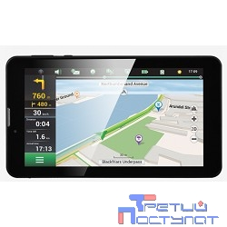 PRESTIGIO GPS GeoVision Tour 2 (7797) (7'', TFT, 1024x600, Android 6.0, Cortex A7 DC 1.3 GHz, 1 GB RAM, 8 GB, 0.3 MP front camera, 2.0 MP rear camera, FM, 3G, WiFi, BT, SIM card slot, 2800 mAh, Black