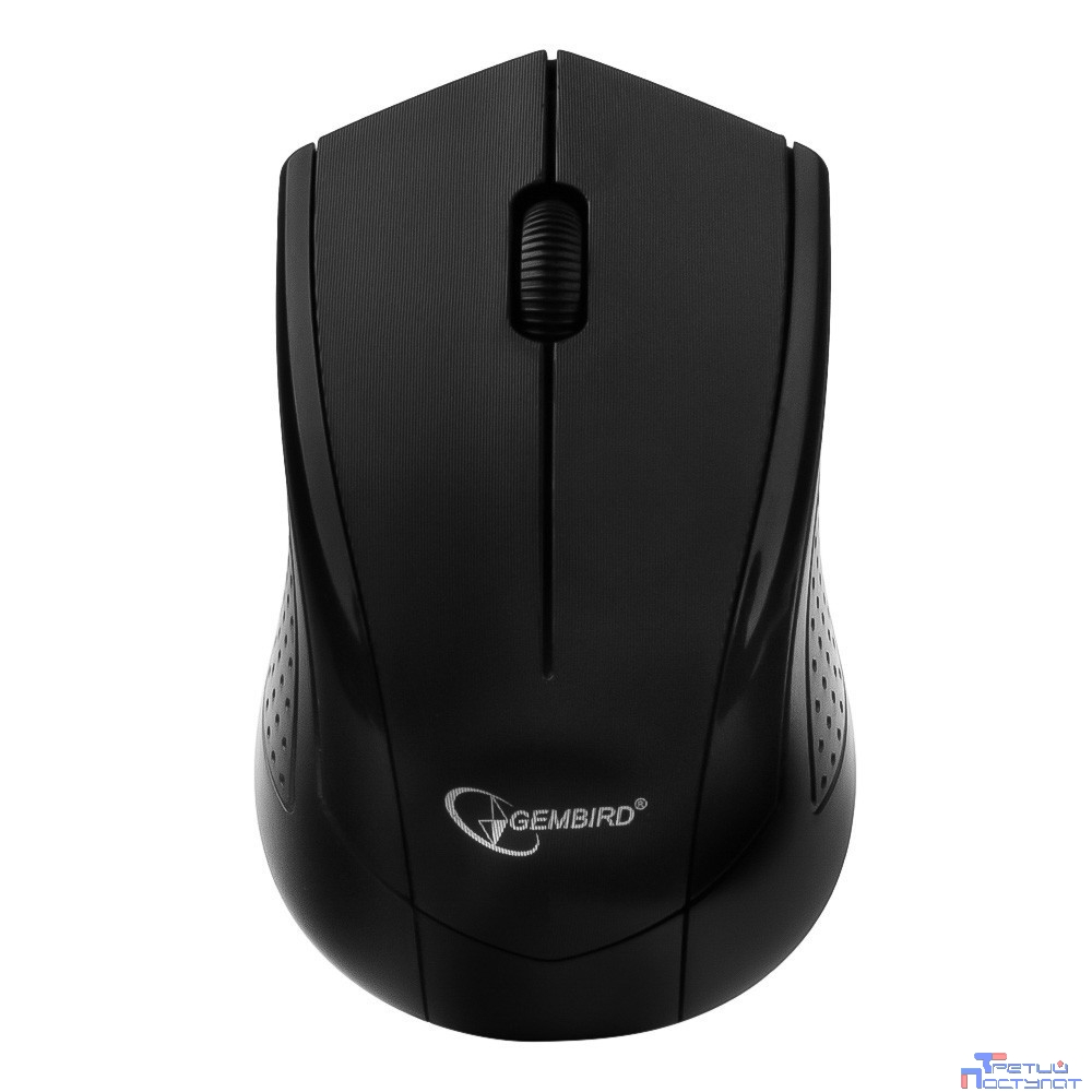 Gembird MUSW-305 Black USB {Мышь беспроводная, 2кнопоки+колесо-кнопка, 2.4ГГц, 1000 dpi}