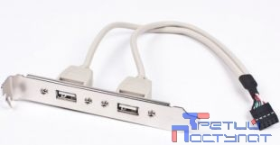 Gembird Планка в сист блок на 2 USB2,0, 10pin ( CCUSBRECEPTACLE)