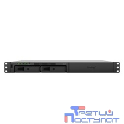 Synology RS217 Сетевое хранилище (Rack 1U) 2xHDD Hot Plug SATA(3,5' or 2,5'), DC1,33GhzCPU/512Mb/RAID0,1/3xUSB/1eSATA/2GigEth/iSCSI/2xIPcam(up to 16)/1xPS/