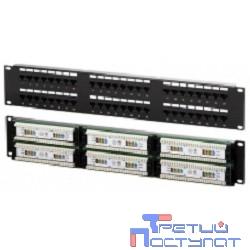Коммутационная панель UTP, 48 портов RJ-45, cat. 6 19