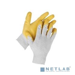 Перчатки STAYER ''MASTER'' MaxSafe трикотажные, обливная ладонь из латекса, х/б, 13 класс, L-XL, 10 пар [11408-H10]