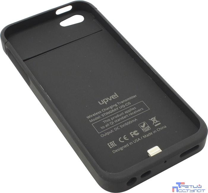 UPVEL UQ-Ci5 STINGRAY Чехол-приемник для беспроводной зарядки стандарта Qi для iPhone 5 и 5s, покрытие Soft Touch, цвет черный