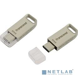 Transcend USB Drive 64Gb JetFlash 850 TS64GJF850S {USB 3.0/3.1 + Type-C}