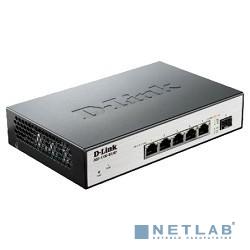D-Link DGS-1100-06/ME/A1B Настраиваемый коммутатор 2 уровня с 5 портами 10/100/1000Base-T и 1 портом 100/1000Base-X SFP
