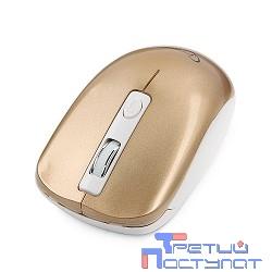 GembirdMUSW-400-G Gold USB { Мышьбеспров.,3кн.+колесо-кнопка,2.4ГГц,1600dpi, бесшумный клик}