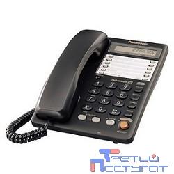 Panasonic KX-TS2365RUB (черный) {16-зн ЖКД, однокноп.набор 20 ном., автодозвон, спикерфон }