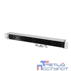 ЦМО Блок розеток Rem-10 без шнура с фил. и инд., 10 IEC 60320 C13, вход IEC 60320 C14, 10A, алюм., 19