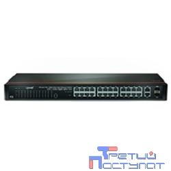 UPVEL UP-326FEW Управляемый WebSmart коммутатор 24-порта PoE+ до 30Вт на порт 10/100 Мбит/с, 2 комбо порта 100/1000BASE-T/SFP в стойку 19