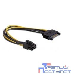 Cablexpert Разветвитель питания SATA-PCI-Express 6pin, для подключения в/к PCI-Е (6pin) к б/п ATX (CC-PSU-SATA)