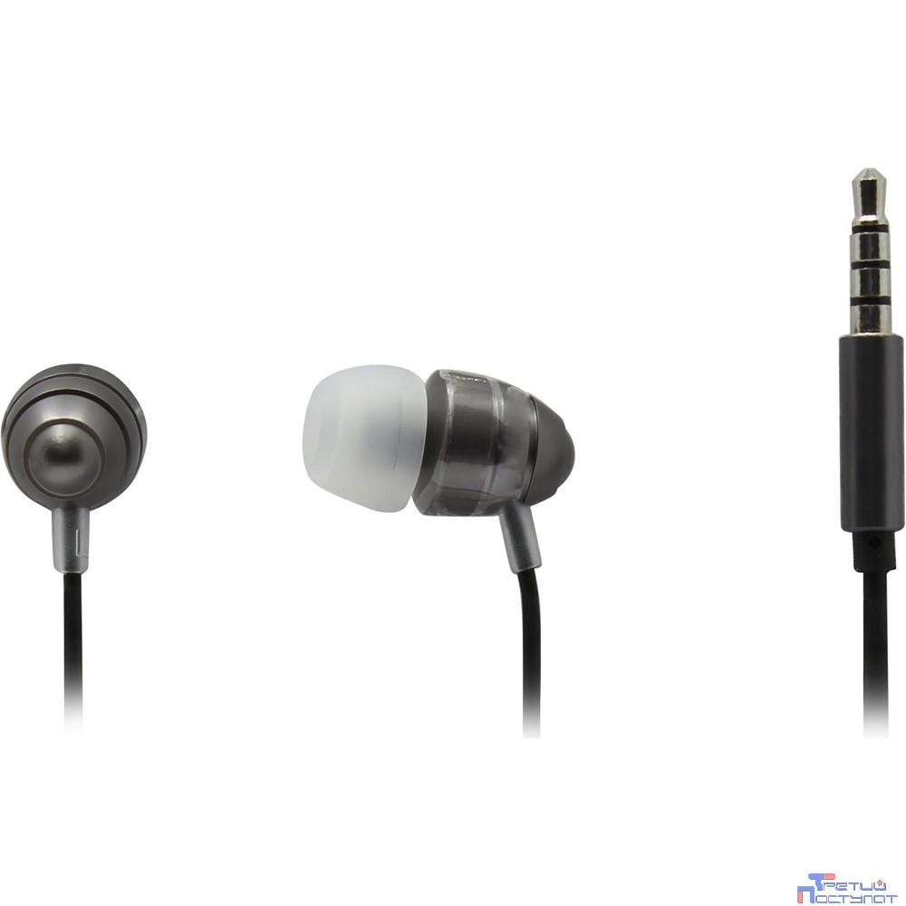 Гарнитура ES-F55 GREY Dialog с кнопкой ответа для мобильных устройств, серая, металл
