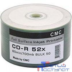 Диски CMC CD-R 80 52x Bulk/50 Full Ink Print
