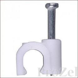 """STAYER """"MASTER"""". Скоба-держатель для круглого кабеля, с оцинкованным гвоздем, 16 мм, 40 шт [4510-16]"""