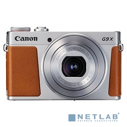 Canon PowerShot G9 X Mark II серебристый/коричневый {20.9Mpix Zoom3x 3'' 1080p SDXC CMOS IS opt 5minF TouLCD 6fr/s RAW 60fr/s HDMI/WiFi/NB-13L}