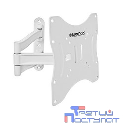 Kromax TECHNO-3 white, Кр. алюм. наст. для TV 15