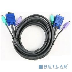 ATEN LIN5-27X6-U21G Шнур, мон+клав+мышь USB/PS2, SPHD=>HD DB15+2xUSB A-Тип + 2x6MINI-DIN, 6xFemale, 8+8 проводов, опрессованный, 0.27 метр., черный, (консольный кабель)