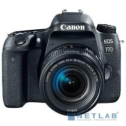 Canon EOS 77D черный {24.2Mpix EF-S 18-55mm f/3.5-5.6 IS STM 3'' 1080p Full HD SDXC Li-ion}