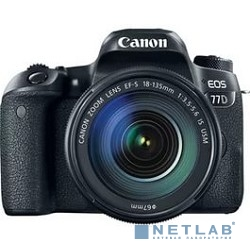 Canon EOS 77D черный {24.2Mpix EF-S 18-135mm f/3.5-5.6 IS USM 3'' 1080p Full HD SDXC Li-ion}