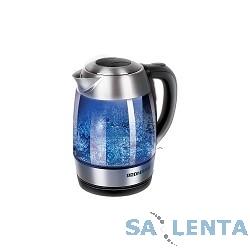 Чайник Redmond RK-G168-E 1.7л. 2200Вт серебристый (стекло)