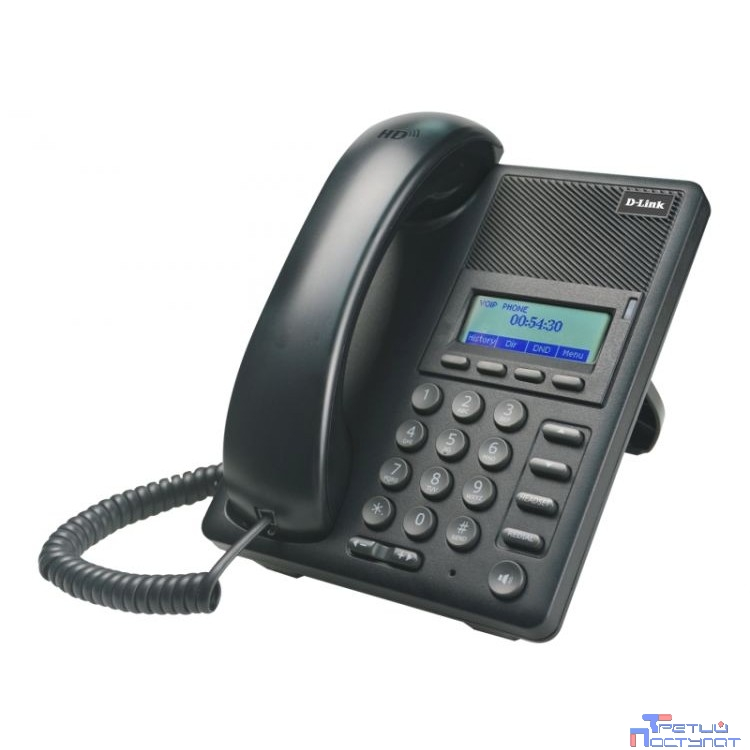 D-Link DPH-120S/F1A IP-телефон с 1 WAN-портом 10/100Base-TX, 1 LAN-портом 10/100Base-TX