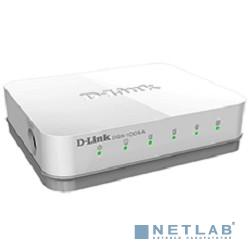 D-Link DGS-1005A/D1A Неуправляемый коммутатор с 5 портами 10/100/1000Base-T, функцией энергосбережения и поддержкой QoS