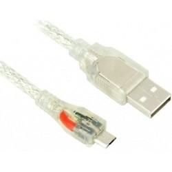 Greenconnect Кабель micro USB 2.0 прозрачный, 28/<wbr>24 AWG, AM / microB 5pin, Premium, экран, армированный, морозостойкий (GCR-UA2MCB2-BD2S-2.0m)