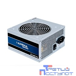 Chieftec 400W OEM (GPB-400S) {ATX 2.3, 80 PLUS, 80% эфф, Active PFC, 120mm fan}, Silver