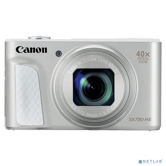 Canon PowerShot SX730HS серебристый {21.1Mpix Zoom40x 3'' 1080p SDXC/SD/SDHC CMOS 1x2.3 IS opt 1minF 6fr/s 60fr/s HDMI/WiFi/NB-13L}