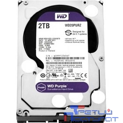 2TB WD Purple (WD20PURZ) {Serial ATA III, 5400- rpm, 64Mb, 3.5