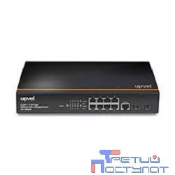 UPVEL UP-309GEW Гигабитный управляемый коммутатор 2 уровня, 8-портов PoE+ до 30Вт на порт, два Uplink порта SFP, консольный порт (крепление для монтажа в стойку, Maximum PoE Output Power: 140W)