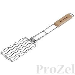 """Решетка-гриль GRINDA """"BARBECUE"""" для сосисок, нержавеющая сталь, 170х85мм [424730]"""