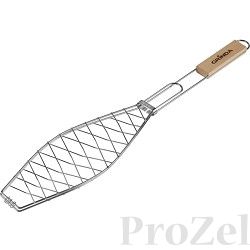 """Решетка-гриль GRINDA """"BARBECUE"""" для рыбы, одинарная, нержавеющая сталь, 620х120мм [424731]"""