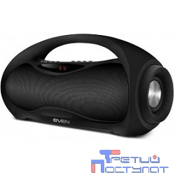 SVEN PS-420,  черный  (12  Вт,  Bluetooth,  FM,  USB,  microSD, LED-дисплей, 1800мА*ч)