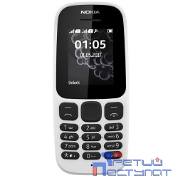 NOKIA 105 DS TA-1034 WHITE (2017) [A00028316] 1.8