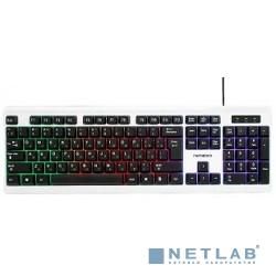 Гарнизон Клавиатура GK-110L, подсветка, USB, черный/белый