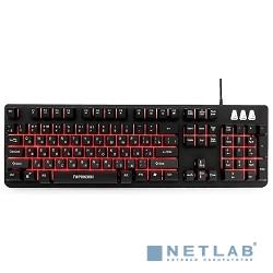 Гарнизон Клавиатура игровая GK-300G, металл, 3 различные подсветки, USB, черный, антифантомные и мех