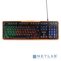 Гарнизон Клавиатура игровая GK-320G черный USB, подсветка, код ''Survarium'', антифантомные клавиш