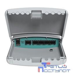 MikroTik CRS105-5S-FB (FiberBox) Маршрутизатор уличный 5x 1.25G Ethernet SFP, POE