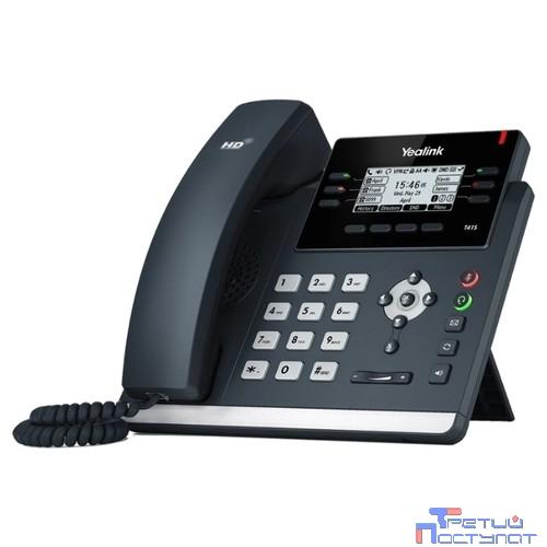 YEALINK SIP-T41S серый IP-телефон, 6 VoIP аккаунтов, HD voice, PoE