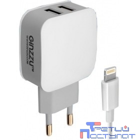 GINZZU GA-3010UW { Адаптер питания GA-3010UW, 2xUSB,8-pin (Apple)}