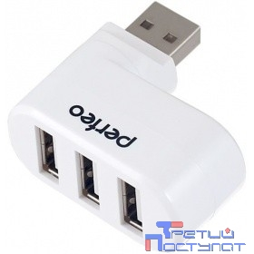 Perfeo PF_4281 USB-HUB 3 Port, (PF-VI-H024 White) белый