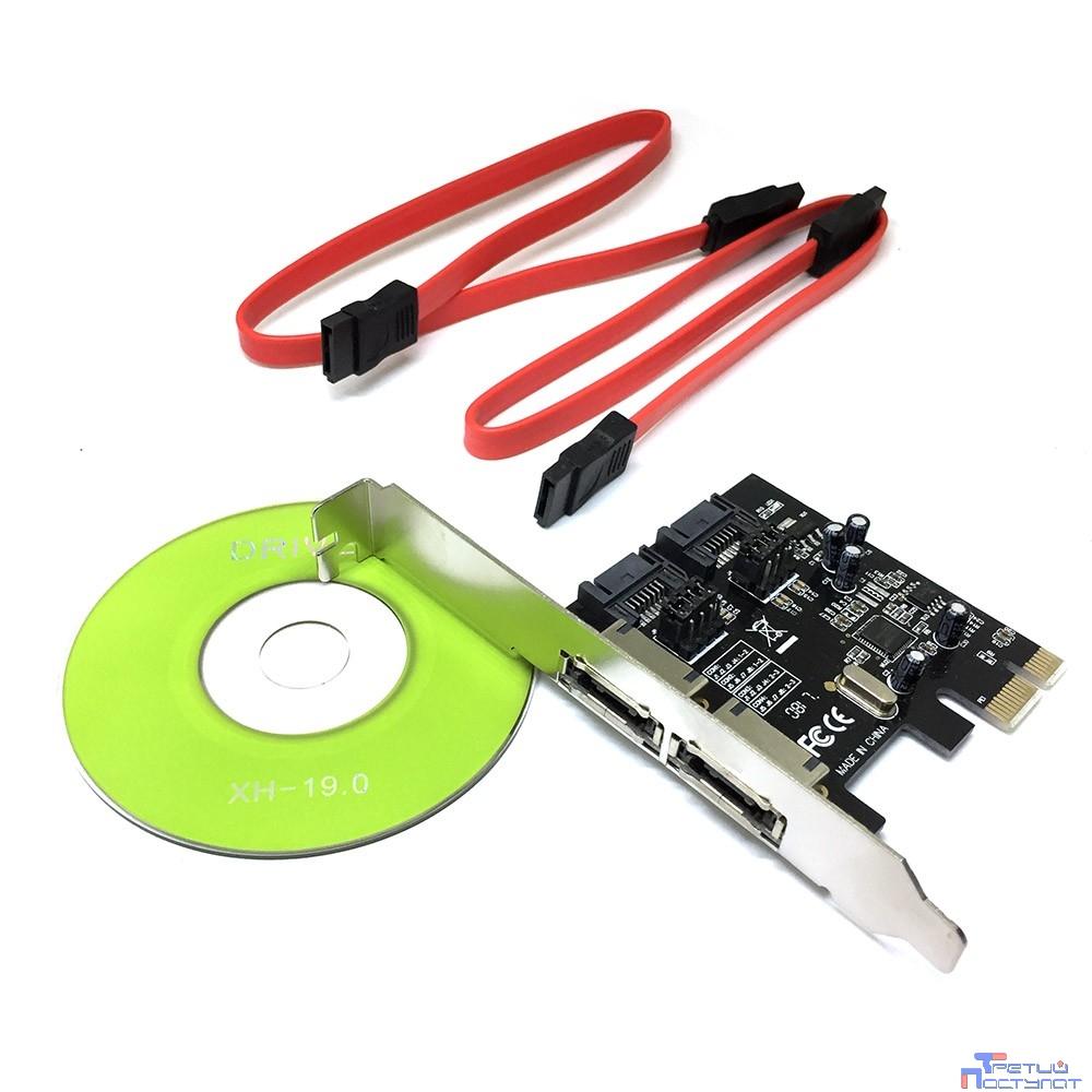 Espada Контроллер PCI-E, SATA3 2 int + 2 ext, ASM1061 (ES3A1061), oem (43084)